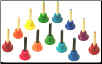 KIDSPLAY COMPLETE 13 NOTE CHROMATIC HANDBELL SET